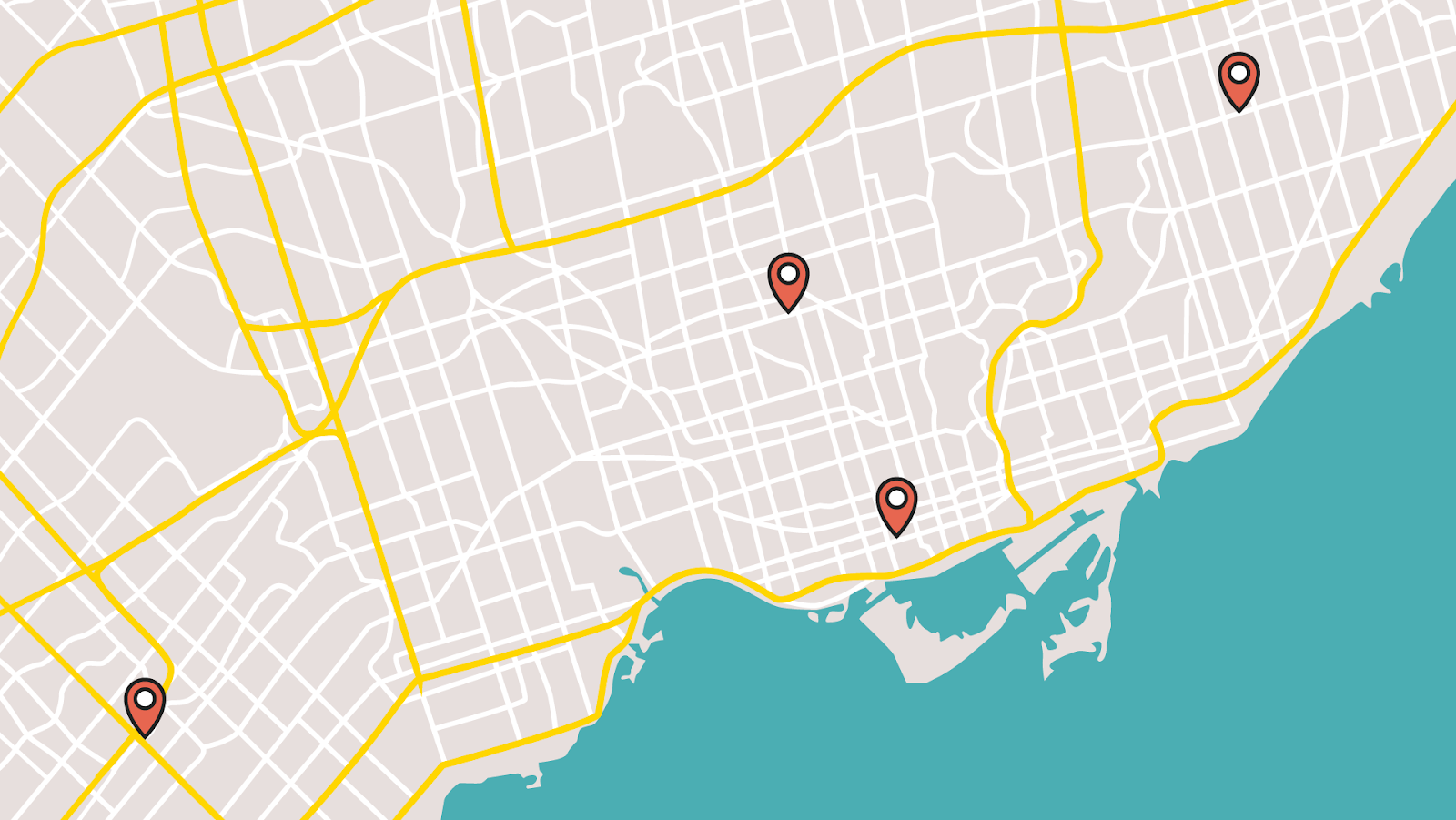 Map of Ontario Switch Health Testing Locations (Greater Toronto Area)